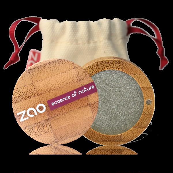 ZAO økologisk shimmer øyenskygge Pearly Grey Green