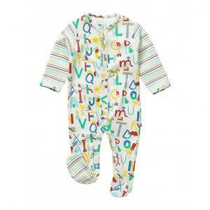 Økologisk pyjamas til baby med bokstaver
