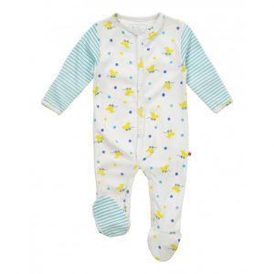 Økologisk pyjamas til baby med lekeender