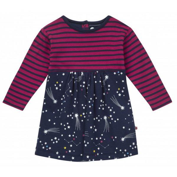 Økologisk kjole med body - stjerner og stjerneskudd