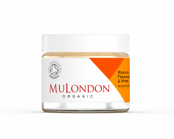 Økologisk moisturiser med Marigold, Frankincense & Myrrh